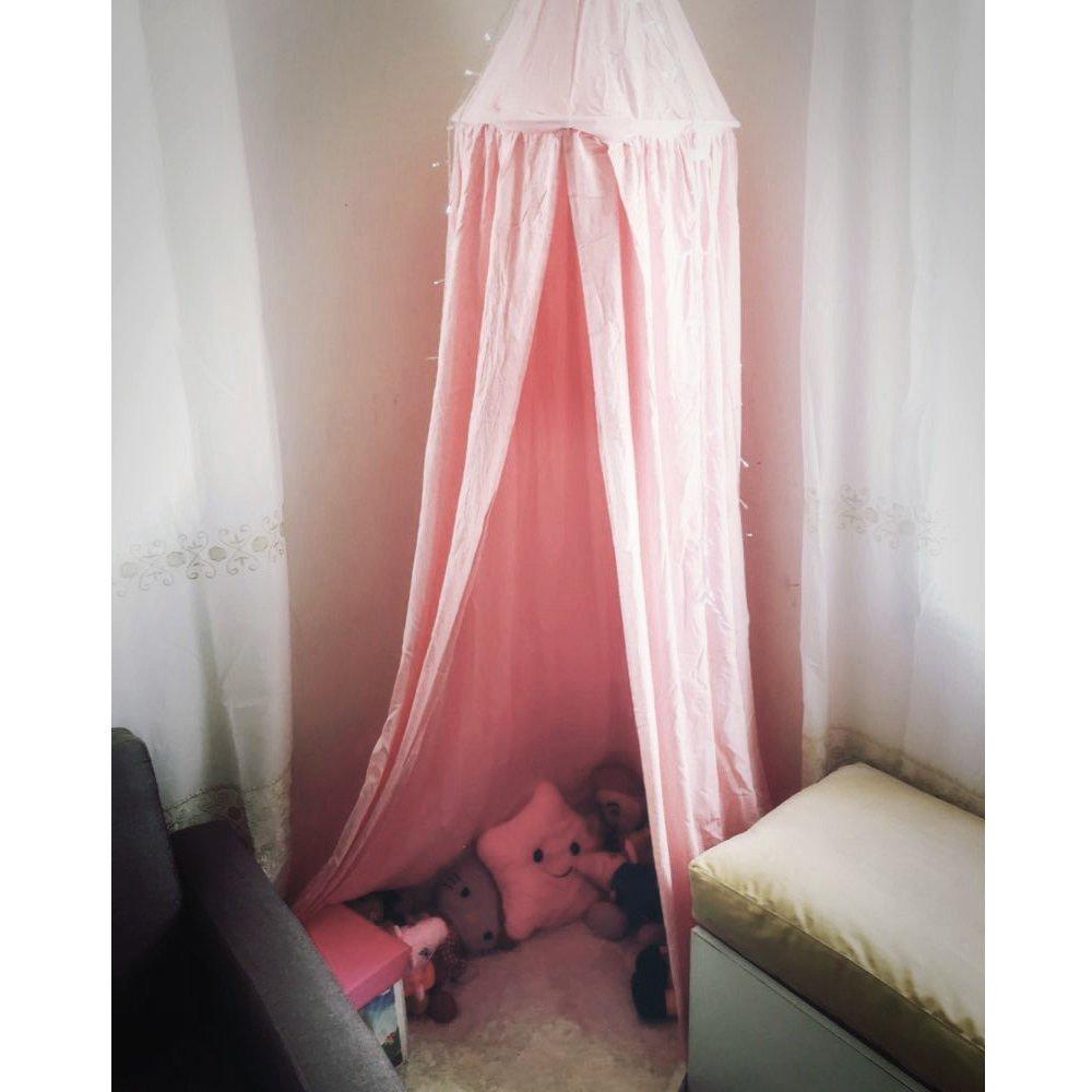 7 цветов, хлопок, для девочек и мальчиков, кровать, навес, для чтения, уголок, палатка, купол, москитная сетка, подвесное украшение, внутренний игровой домик для детей - Цвет: Lotus color