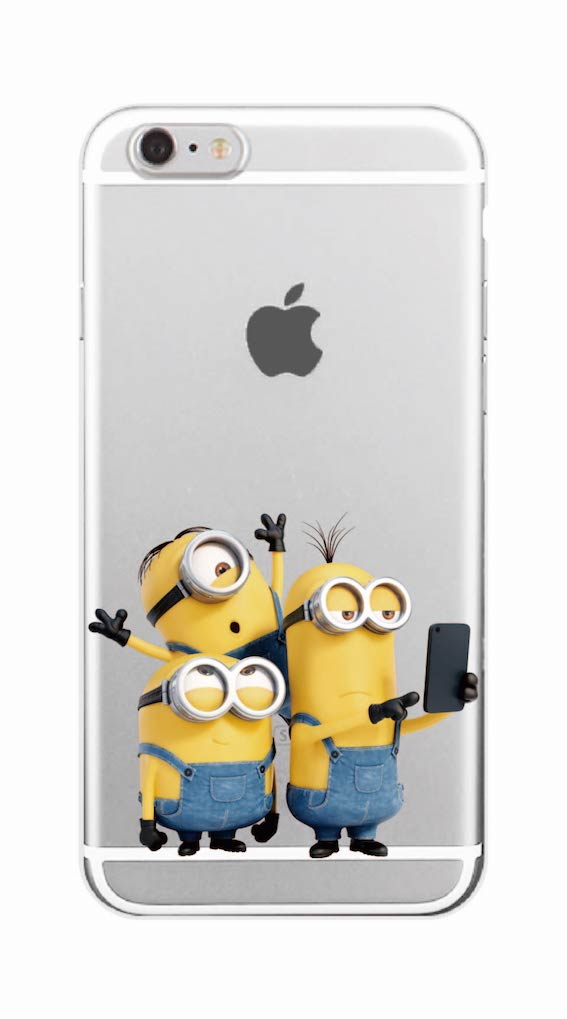 Cute Cartoon Cute Despicable Yellow Minions Soft Phone Clear Case Coque Fundas For iPhone 7 7Plus 6 6S 6Plus 8 8Plus