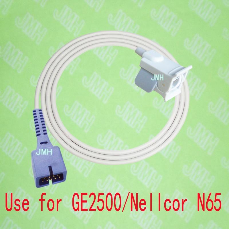 Compatible with GE 2500 and Nellcor N65 Pulse Oximeter monitor, Pediatric finger clip spo2 sensor,9PIN. compatible with ge critikon dinamap puls 8700 8710 8720 oxyshuttele 1 2 child and adult ear clip spo2 sensor
