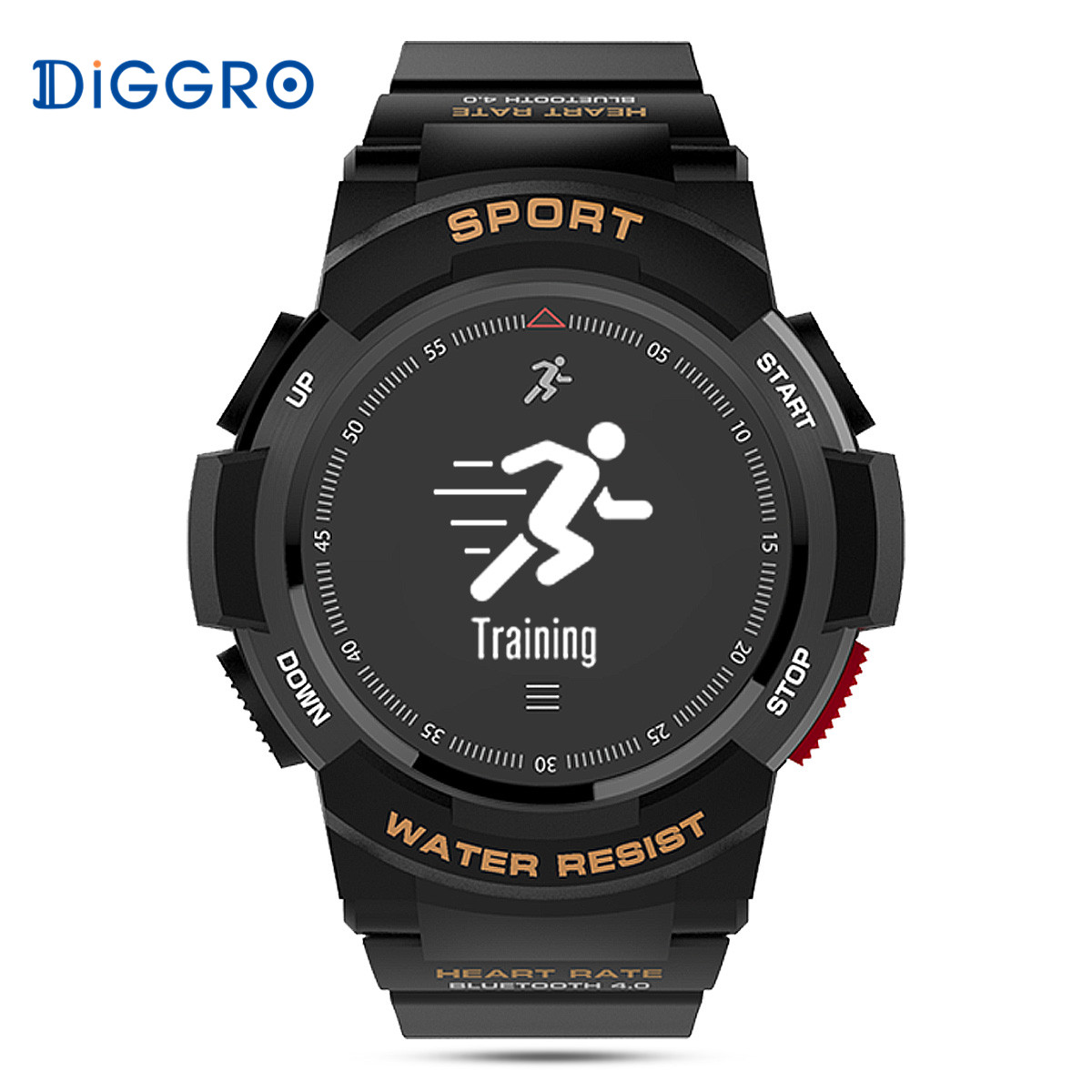 Diggro DI09 Smart GPS Watch Sport Tracker Heart Rate IP68 Waterproof Sleeping Monitor Call Message Reminder For IOS Android цена 2017