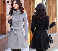 2018 Korean Women's Cashmere Coat Female Autumn Long Slim Cardigan Especially Women Winter Long Coats Thick Warm Feminine Coat