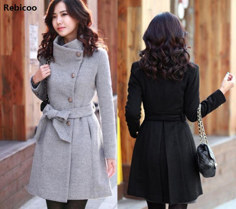 2018 das mulheres coreanas casaco de caxemira feminino outono longo fino cardigan especialmente feminino inverno casacos longos grosso quente casaco feminino