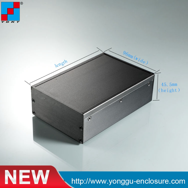YGS-036 96*45.5-140mm (WxH-D) electronic project extruded aluminum enclosures aluminium housing metal electronics box diy aluminum enclosure ygs 036 96 45 5 140mm wxh d