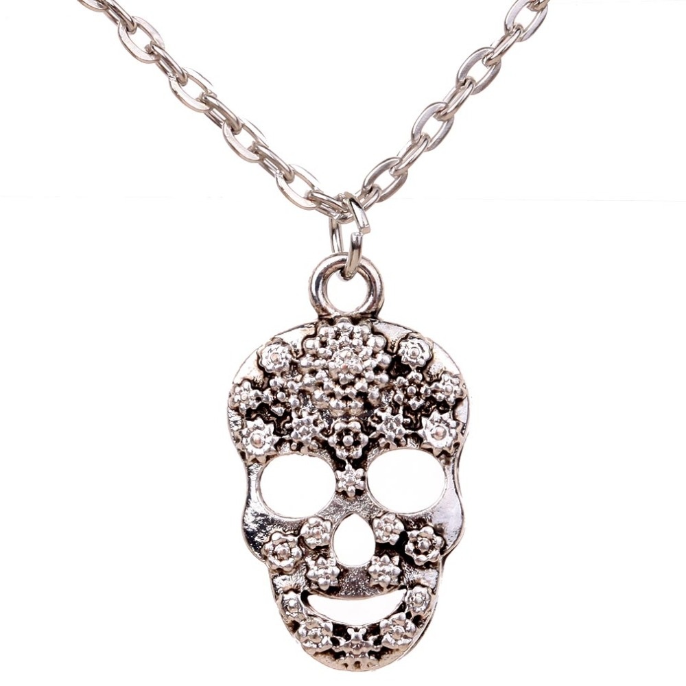 fancy oblacoder necklace sugar large skull silver pendant sterling