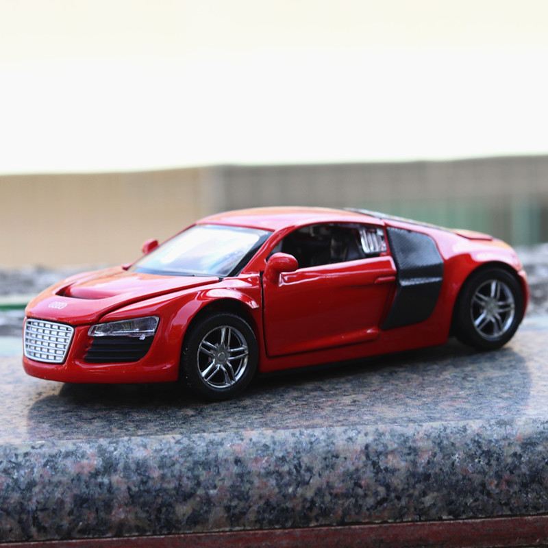 1 32 Child Audi R8 Sound and light belt pull back vehicle simulation alloy car model crafts decoration collection toy tools in Diecasts Toy Vehicles from Toys Hobbies