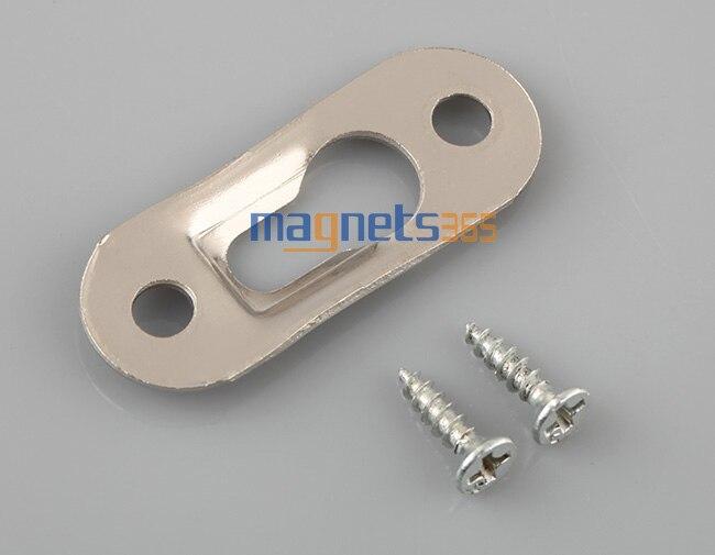 20 x Metal Keyhole Hanger 42mm x 16mm Frame Mirrors Cabinets Shelfs 2-Hole Flat