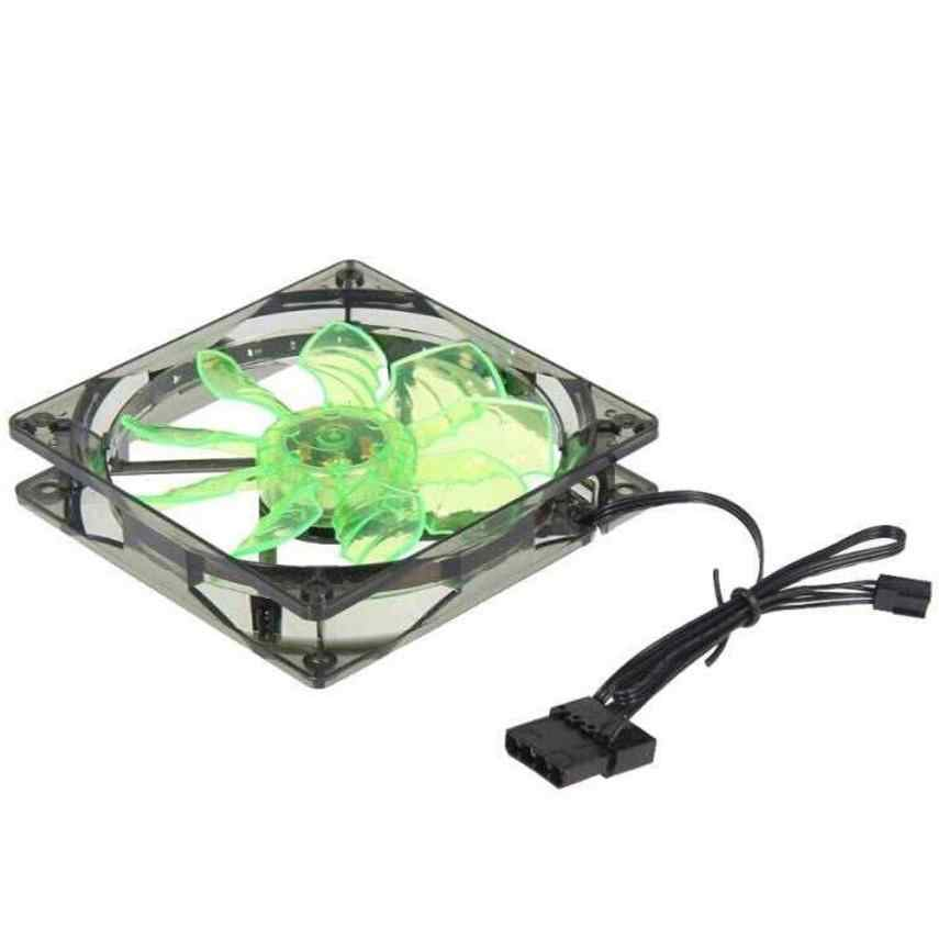 2018 Top sale New Green 15 LED Light Quite 120mm DC 12V 4Pin PC Computer Case Cooling Cool Fan Mod Heat sink  Cheaper nice