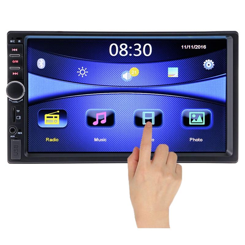imágenes para 2 Din Reproductor Multimedia de Coche Bluetooth Estéreo de Radio FM subwoofer MP3 MP4 MP5 Audio Video USB Auto Automóviles autoradio modulador
