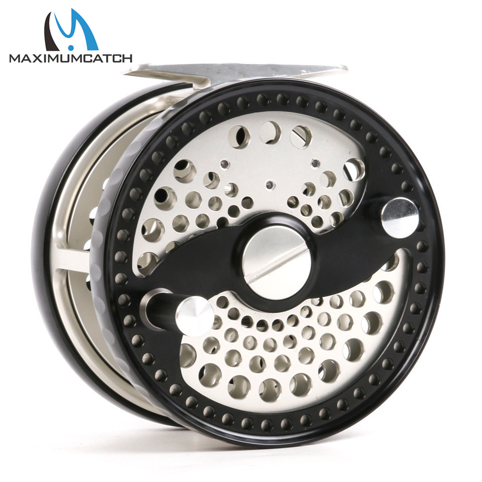 Maximumcatch CLA 3-10WT Classic Fly Fishing Reel Clicker Disc Drag System CNC Machine Cut T6061 Aluminum Fly Reel