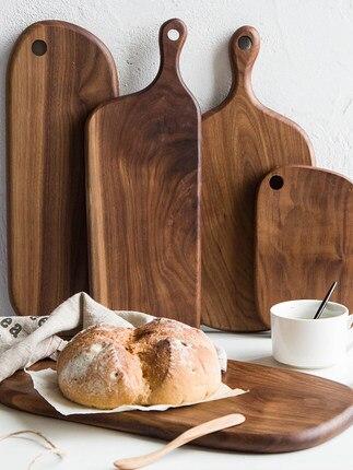 Noyer noir platine de prototypage planche à découper bois massif plateau à pain gourmand planche à Sushi planche à découper en bois massif fait main