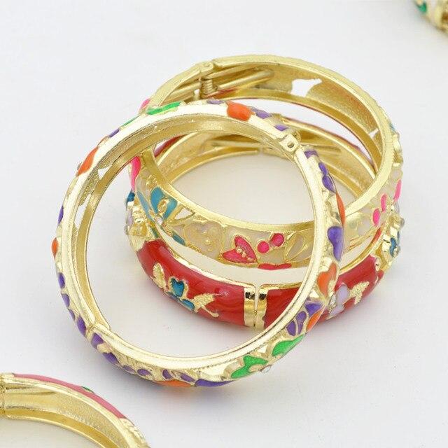 Widening Old Beijing Cloisonne Bracelets For Women Models Peony Carter Love Bangles