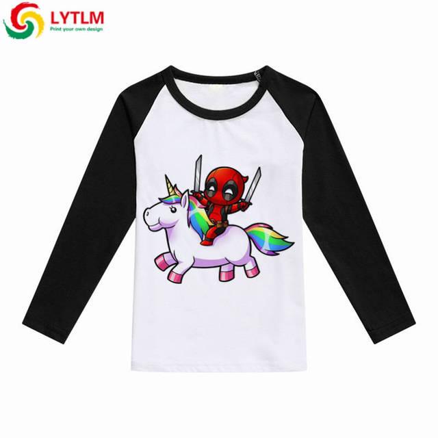 d8f819f1e3 LYTLM Deadpool T Shirt Boy Unicorn Tshirt Girls Boys Long Sleeve 2018 Tops  Teenage Kids Clothes Girls Funny Tee Shirts Vetement