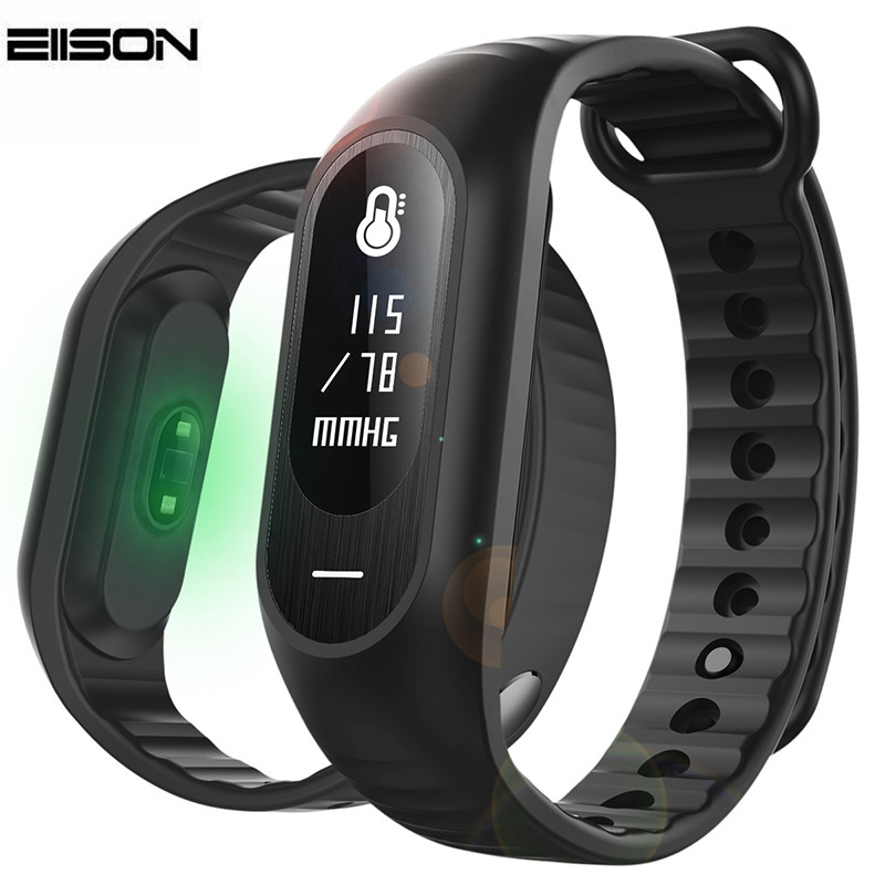 Blood Pressure Smart Bracelet Heart Rate Monitor Fitness Watch Activity Tracker