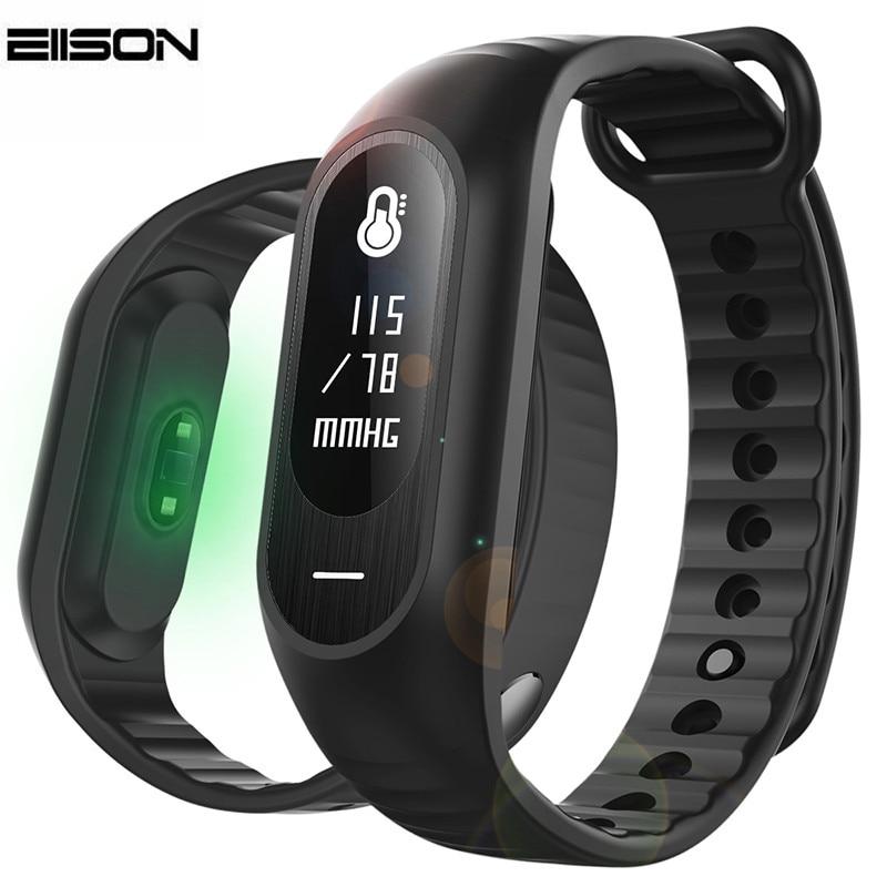 Blood Pressure Smart Bracelet Heart Rate Monitor Fitness Watch Activity Tracker Wristband Alarm Clock Vibration PK Fitbits