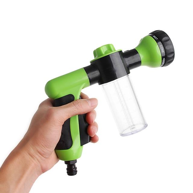 8 In 1 Jet Spray Gun Soap Dispenser Garden Watering Hose Nozzle Car