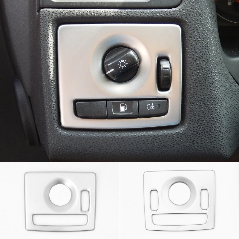 Metal Head Light Lamp Switch Button Cover Frame Interior Trim for Volvo XC90