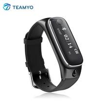 Teamyo M6 Smart talkband с bluetooth гарнитуры Smart Band наручные часы анти-потерянный Шагомер сна монитор умный Браслет