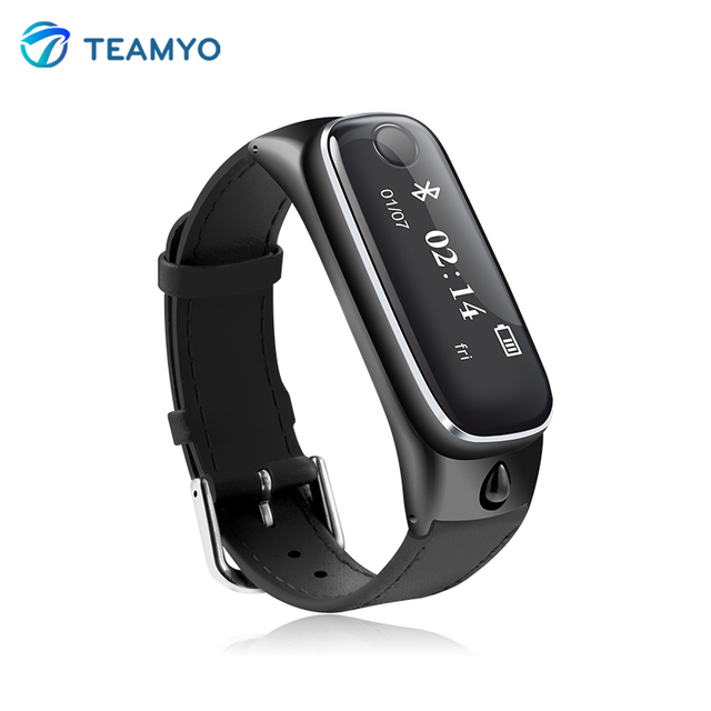 Teamyo M6 Smart Talkband with Bluetooth Headset Smart Band Wristwatch Anti-lost Pedometer Sleep monitor Smart Bracelet