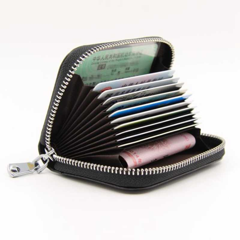 38347428f7c ... Vintage Genuine Leather Cowhide Rfid Card Holder Women Men Wallet For  Credit Card Business Card Holders ...