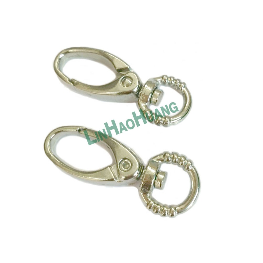 450pcs lot 10mm Silver nickle Alloy Swivel Clasps Snap Key Hooks DIY Key Chain Ring Free