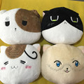 Kawaii APH Cat Emoji Face Cartoon Plush Toy Axis Powers Hetalia Peluche Doll for Kids Gift Cute Stuffed Toys Home Sofa Pillow