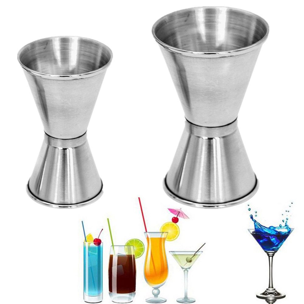 Stainless Steel Bar Measuring Jigger Cocktails Measure Cup Double Spirit Measuring Cup Alcohol Bartending Jigger Bar&Wine Tools cup