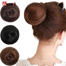 Короткие синтетические волосы шиньон пончик ролик булочка парик для женщин 10 цветов доступны AOSIWIG