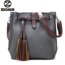 Vintage Frauen Eimer Tasche Leder Messenger Bags Handtaschen Frauen Berühmte Marken Designer Weibliche Schulter Quaste Tasche bolsas sac