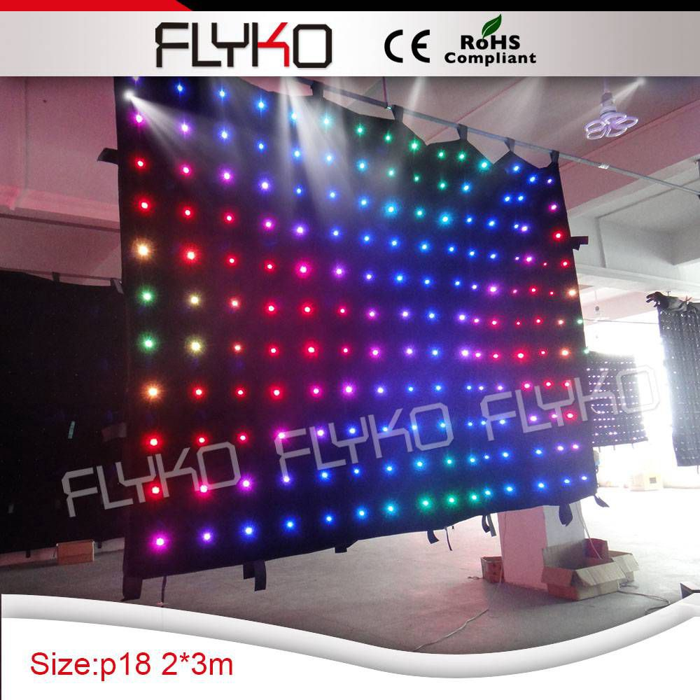 Led curtain concert - Aliexpress Com Buy Led Curtain Light 2x3m P180mm Indoor Concert Stage Sale Led Curtain For Dj Booth From Reliable For Dj Suppliers On Guangzhou Flyko