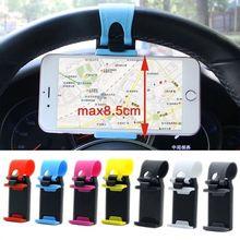 Car Phone Holder Mini Air Vent Steering Wheel Clip Mount Uni
