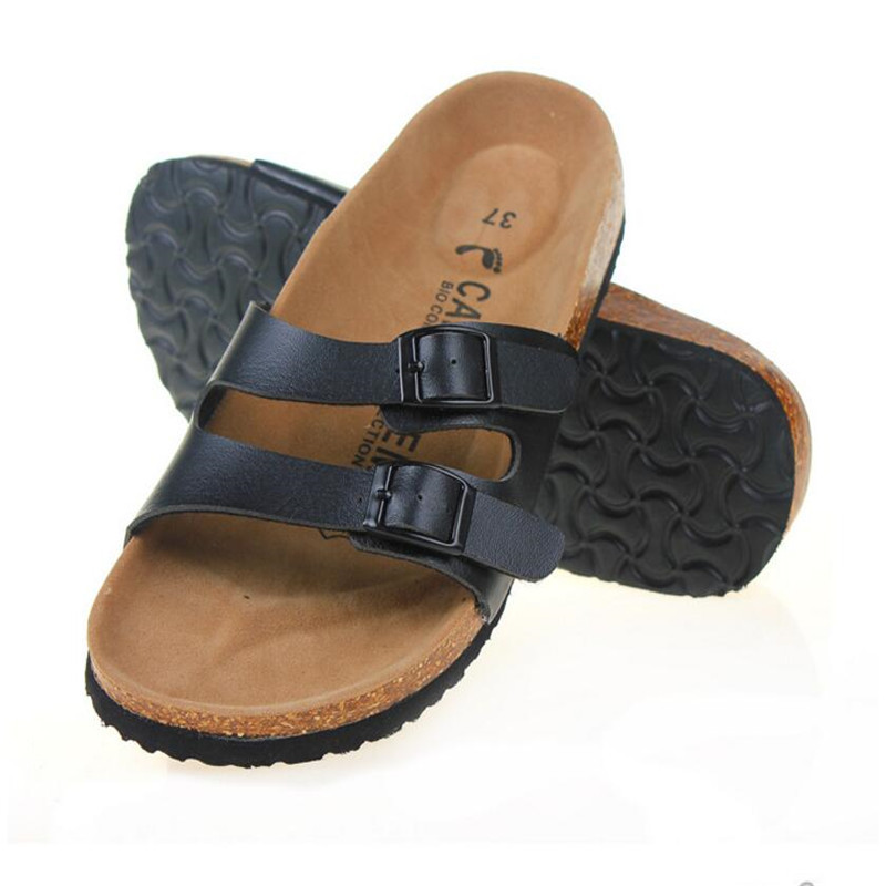 dc608e63618a New 2018 Slides Summer Style Shoes Womens Orthotic Sandals Cork Slippers  Slip on Casual Classics Flip Flop Size 35 43 Shoe-in Women s Sandals from  Shoes on ...