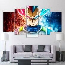 Home Decor HD Prints 5 Pieces Dragon Ball Anime Pictures Super Saiyan