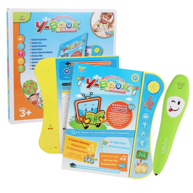 20 páginas de bolígrafo electrónico de lectura de punto, máquinas de aprendizaje de inglés chino para niños, tableta interactiva, juguete educativo para niños