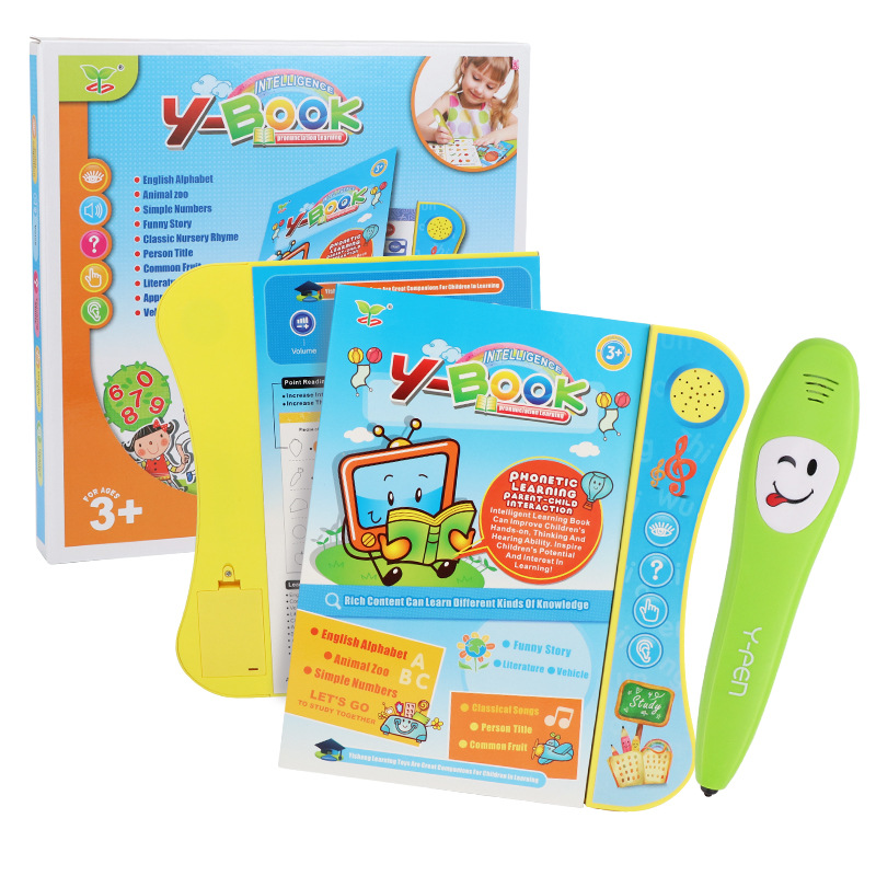 20pages Electronic point reading book pen Chinese English learning machines for kids tablet Interactive Children educational toy image