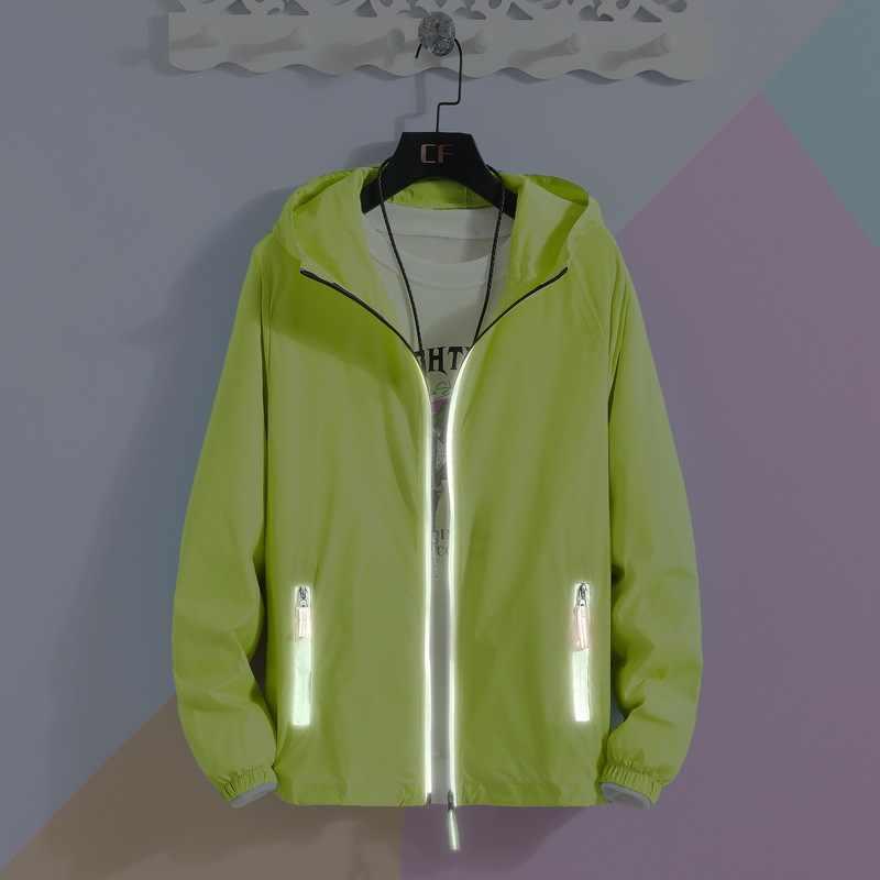 Летняя мужская однотонная куртка 2019 Солнцезащитная куртка мужская тактическая куртка для колледжа Мужская Верхняя одежда Модная легкая мужская куртка плюс размер