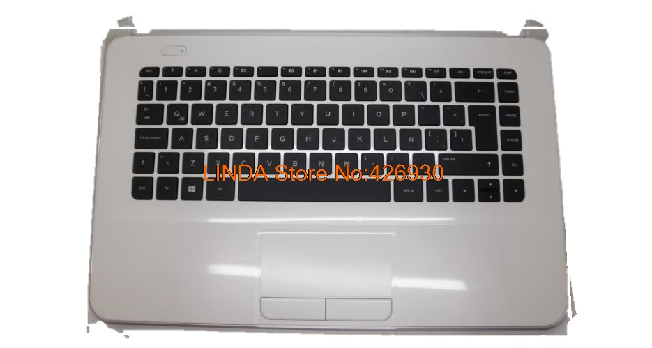 Laptop PalmRest&keyboard For HP 14-D000 White C shell with black LA keyboard 55012WY00289-G 1A32FTU00600G 95% new