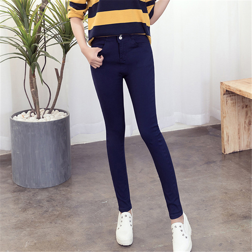 high waist jeans woman new fashion cotton Candy colors elastic force Abdomen women jeans mujer jean femme denim spodnie damskie in Jeans from Women 39 s Clothing