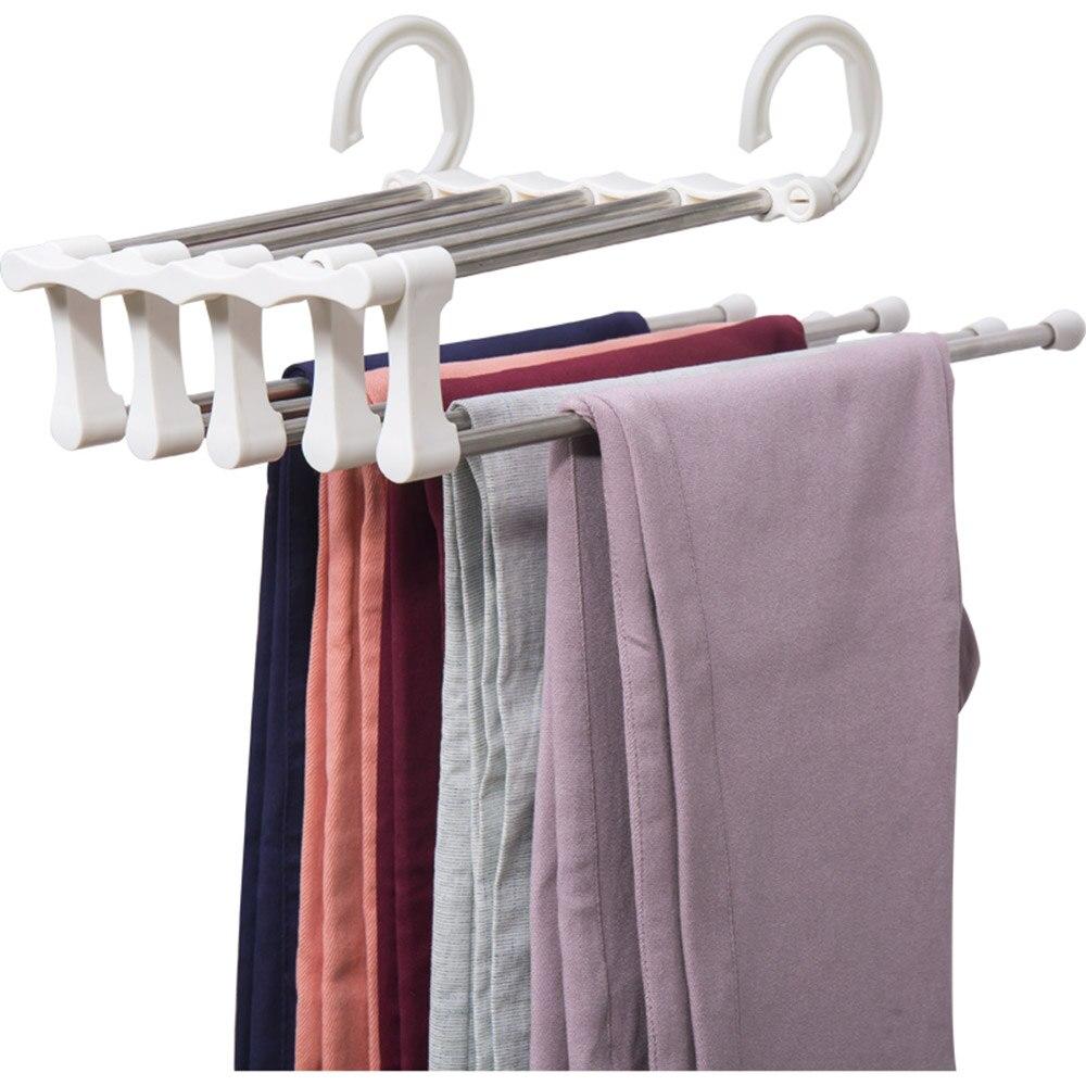 Gancho De Metal Blanco Para Colgar En Los Pantalones Panuelo Para Lazo Ganchos Para Pantalones Organizador Multicapa Perchas Y Percheros Aliexpress