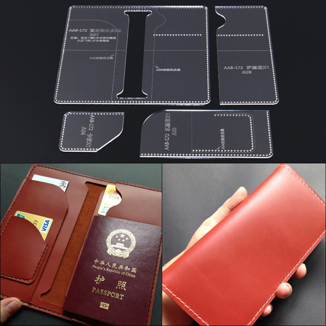 handmade diy passport holder long wallet template clear acrylic