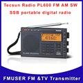 Frete grátis Tecsun pl600 FM estéreo am FM sw rádio