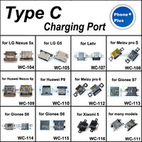 12 Models 24PCS Type C Charging Port Connector Jack Plug With Gift For CellPhone Most Brands