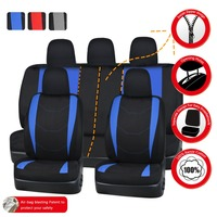 Full Set Car Seat Cover Universal Fit Polyester 3MM Composite Sponge Car Styling For Lada Toyota