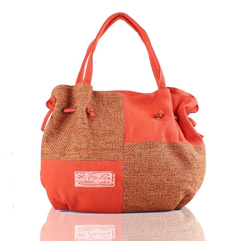 цена на Linen Big Bags Casual Style for Women Handbags Vintage Women Woman's Fashion Grid Single Shoulder Lady Square Straw Tote Package