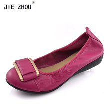Plus Size 35-43 Women Shoes Woman Genuine Leather Flat Shoes Casual Work Loafers Ballet Flats New Fashion Women Flats