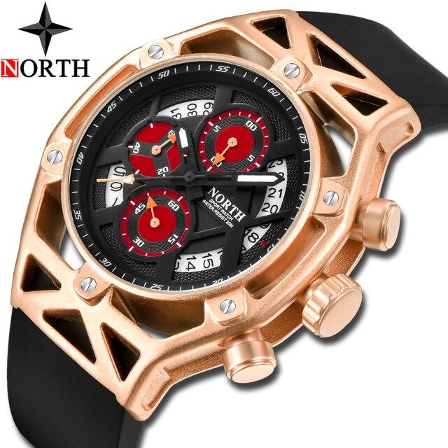 NORTH Mens Watches Top Brand Luxury Chronograph Quartz Watch Men Analog Date  Casual Military Sport Wrist fb5f7d60c8