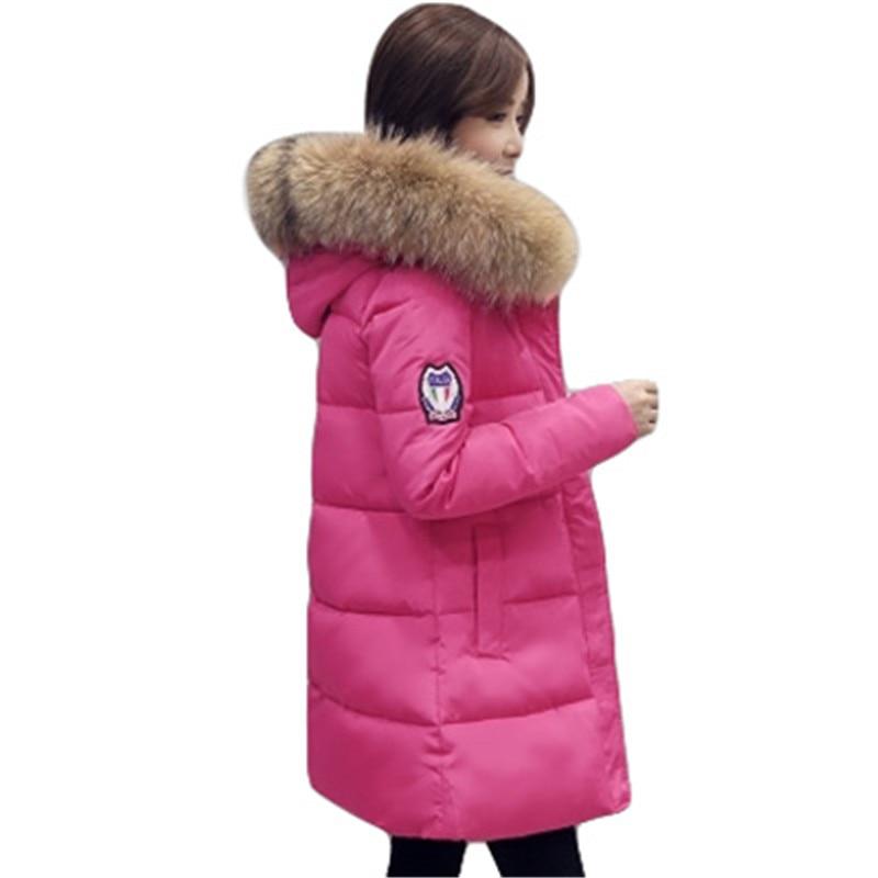 pink2 pink 2017 Grand À Col Fourrure L77 Épais Capuchon gray Red De Hiver black army Long Femmes Rembourré Parka Green Veste Coton Chaud Ouatée Manteau wwHpqFSx