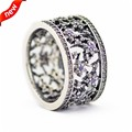 Forget Me Not Ring With Purple Clear CZ Bague Femme Wedding Rings For Women 925 Sterling Silver Ring 2016 Spring Jewelry