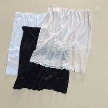 d36a0253724a 1PC 100% Silk Knit Lace Half Slip Nightdress Sleepwear Underskirt M L XL  SG351(China