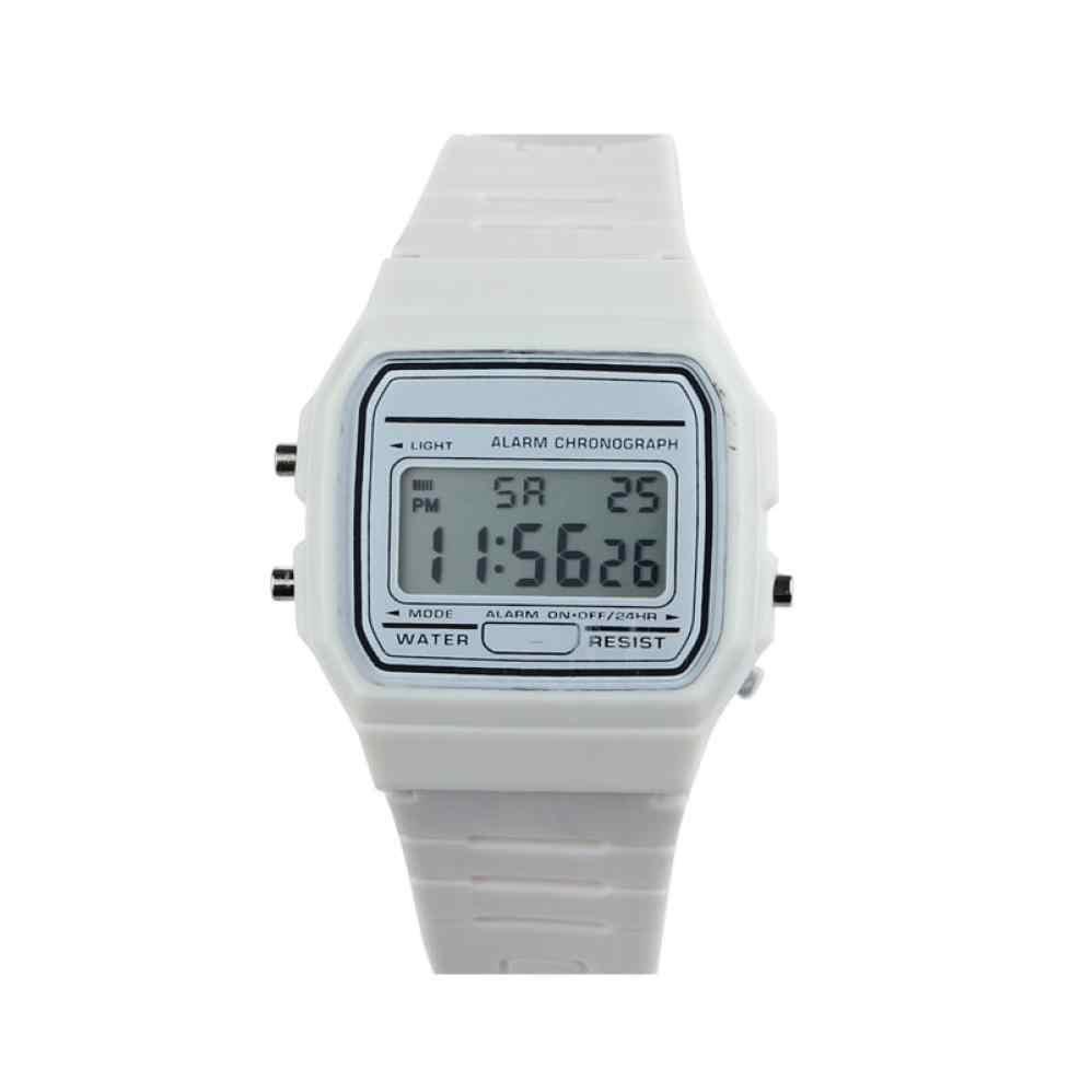 b73783180 ... New Silicone Couple Watch Rubber Strap Retro Vintage Run Step Watch  Digital Watch Fabric Band Watch ...