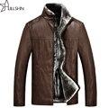 2016 novo inverno dos homens jaqueta de couro grosso casaco de pele dos homens de couro casual masculino moda WQ-3862